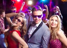 Party at nightclub Royalty Free Stock Images