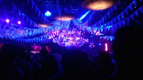 Party. Noche rosario event party lights royalty free stock image