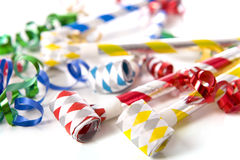 Party Noise Makers on White Royalty Free Stock Photos