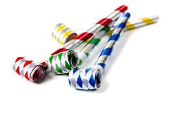 Party Noisemakers on White Royalty Free Stock Photos
