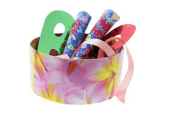 Party Novelties in Gift Box Royalty Free Stock Photography