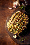 Party o naco do pão com alho e outros ingrediens fotos de stock royalty free