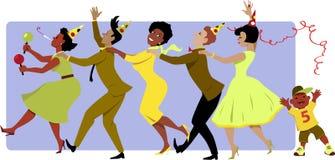 Party o tempo Imagem de Stock Royalty Free