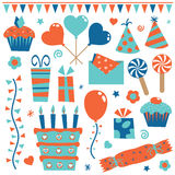 Party objects stock illustration