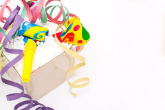 Party objects isolated Stock Image