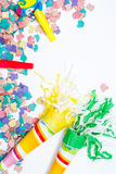 Party objects isolated Royalty Free Stock Image