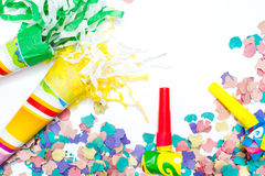 Party objects isolated Royalty Free Stock Photos
