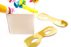 Party objects isolated Royalty Free Stock Images