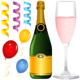 Party objects vector. In color Royalty Free Stock Photography