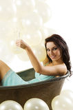 The party and old fashion bath Stock Photography
