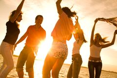 Free Party On Beach Stock Image - 14757691