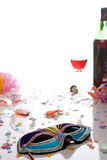 Party is over. Isolated against white background Royalty Free Stock Photos