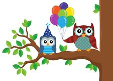 Party owls theme image 5 Stock Images