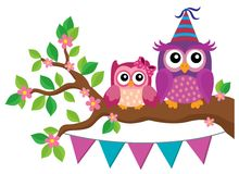 Party owls theme image. Illustration Stock Image