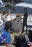 Party på fartygplats från set av 'frestelsen Arkivbild