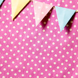 Party paper flags garland isolated on fabric background Royalty Free Stock Photos