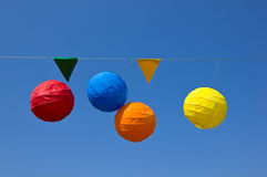 Party paper lanterns Royalty Free Stock Photo