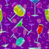 Party pattern. Abstract party pattern in blue Royalty Free Stock Photo
