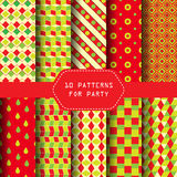 Party pattern Stock Photos