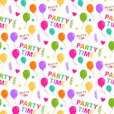 Party pattern seamless Royalty Free Stock Photos