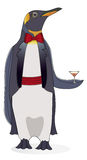 Party Penguin. King penguin dressed for a formal event enjoying a nice cocktail Stock Photography