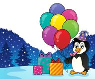 Party penguin topic image 2 Stock Photography