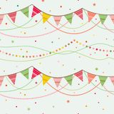 Party pennant bunting. Royalty Free Stock Photos