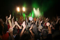Party people. Dancing on a dancefloor Stock Images