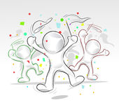 Party people. Vector abstract party people for any festive occasion Royalty Free Stock Images