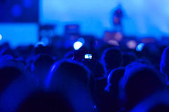 Party people. Cheering crowd at a concert Royalty Free Stock Images