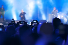 Party people. Cheering crowd at a concert Stock Photography
