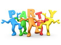 Party People. Computer Generated Image - Party People Stock Image