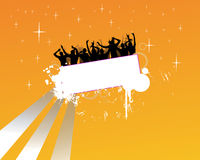 Party people. Vector illustration of dancing people Royalty Free Stock Photos