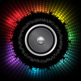 Party People with Audio Speaker Vector Background Stock Images