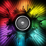 Party People with Audio Speaker Vector Background Royalty Free Stock Photo