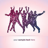 Party People Background Stock Photo