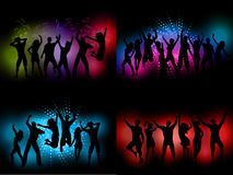 Party people backgrounds Stock Photography
