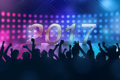 Party people celebrate 2017 new year eve Stock Photography