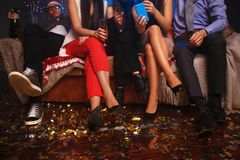 Party people celebrating in the club royalty free stock photos