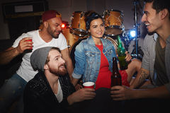 Party People Chilling in Night Club Stock Images