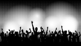 Party people in club. Illustration of Party people in club Royalty Free Stock Photo