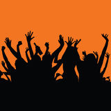 Party people color art  Royalty Free Stock Image