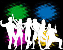 Party people - color background Royalty Free Stock Images