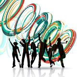 Party people dancing Royalty Free Stock Images