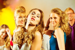 Party people dancing in disco club Royalty Free Stock Photos