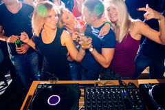 Party people. Group of young people on a party stock photography