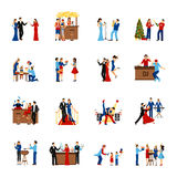 Party People Icons Set Royalty Free Stock Photo