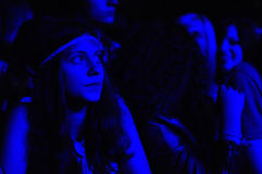 Party people during a live concert Stock Photos