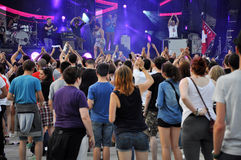 Party people at a live concert Stock Photography