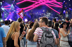 Party people at a live concert Royalty Free Stock Photos